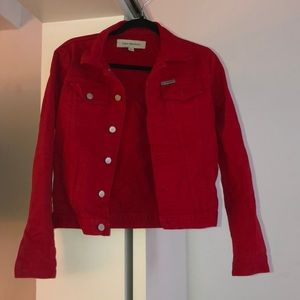 Red Calvin Klein Jeans jacket